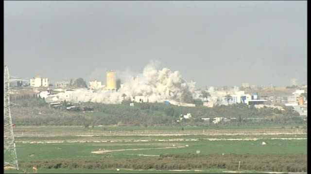 united nations compound hit by israeli fire israel / gaza massive cloud of smoke billowing from inside gaza - gaza strip stock videos & royalty-free footage