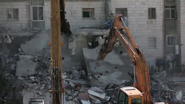 Israeli authorities used heavy machinery on Monday to demolish a house belonging to a Palestinian family that they say was built without a...
