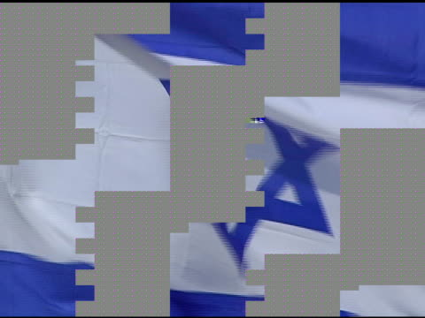 israeli flag blowing in the wind - star of david stock videos and b-roll footage