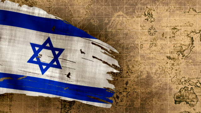4k israeli flag loopable - israeli military stock videos & royalty-free footage
