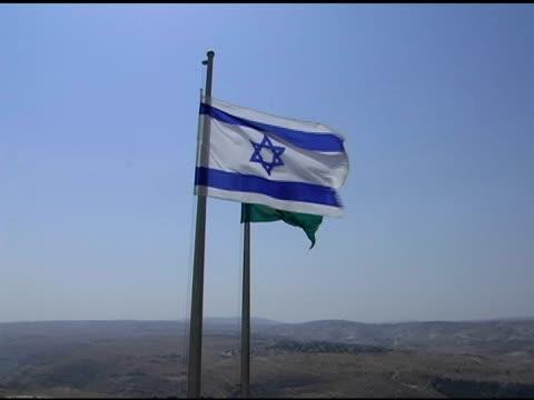 israeli flag - star of david stock videos and b-roll footage