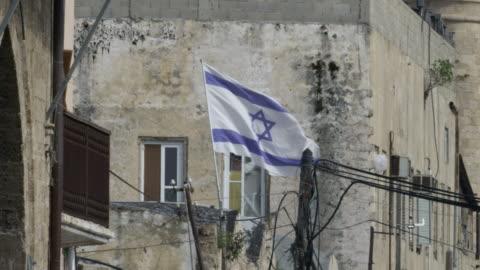 イスラエル国旗 - テルアビブ点の映像素材/bロール