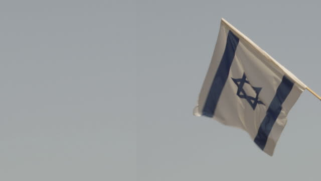 vídeos de stock, filmes e b-roll de bandeira israelense - flag