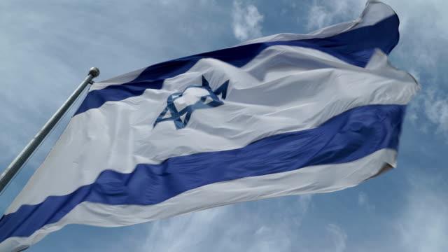 israeli flag waving - holocaust stock videos & royalty-free footage