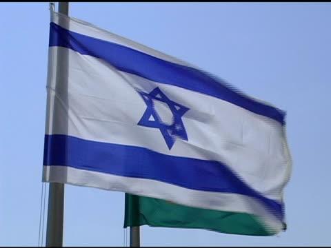 israeli flag zoom - judaism stock videos & royalty-free footage