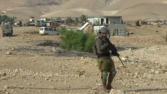 israeli forces have demolished a number of palestinian homes and detained 16 people in the occupied west bank, an official said on tuesday . mayor... - prisoner stock videos & royalty-free footage