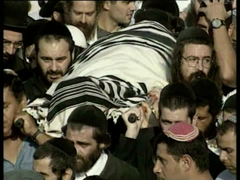 israeli funeral procession october 1998 - funeral procession stock videos & royalty-free footage