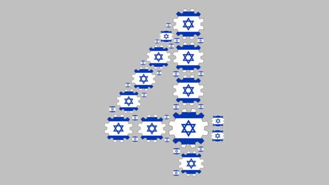 israeliska nummer fyra - nummer 4 bildbanksvideor och videomaterial från bakom kulisserna