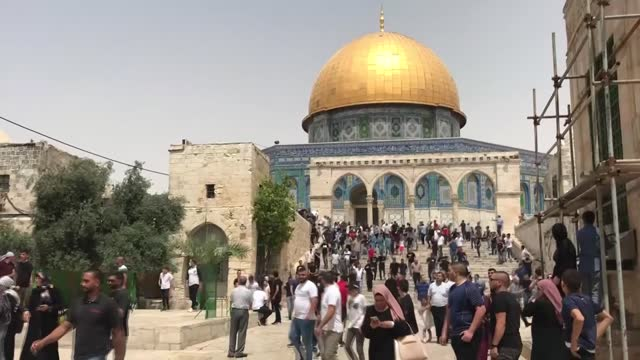 israeli police attacked muslim worshippers offering weekly friday prayers at the al-aqsa mosque in occupied east jerusalem's old city. the attacks... - exclusive stock videos & royalty-free footage