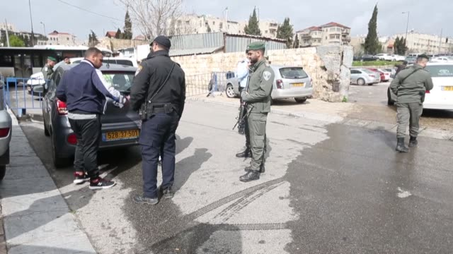 israeli police detain three palestinians who wanted to protest the israeli marathon in occupied east jerusalem on march 15 2019 - east jerusalem stock videos & royalty-free footage