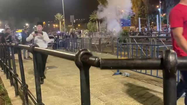 israeli police on saturday used stun grenades to disperse palestinians gathered at the damascus gate in the old city of occupied east jerusalem. a... - old town stock videos & royalty-free footage