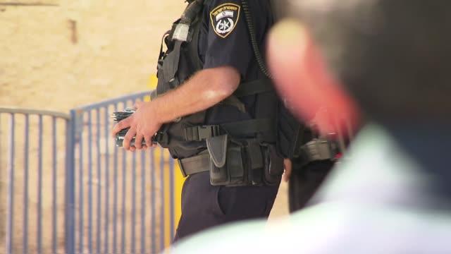 israeli policeman - israel stock videos & royalty-free footage
