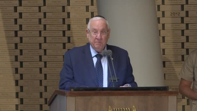 israeli president reuven rivlin denounces a horrible murder in germany after two people died in an anti semitic gun attack carried out on the holy... - jom kippur stock-videos und b-roll-filmmaterial