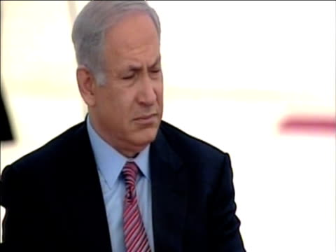 israeli prime minister benjamin netanyahu listens to pope benedict xvi during visit to middle east tel aviv israel; 12 may 2009 - minister clergy stock videos & royalty-free footage