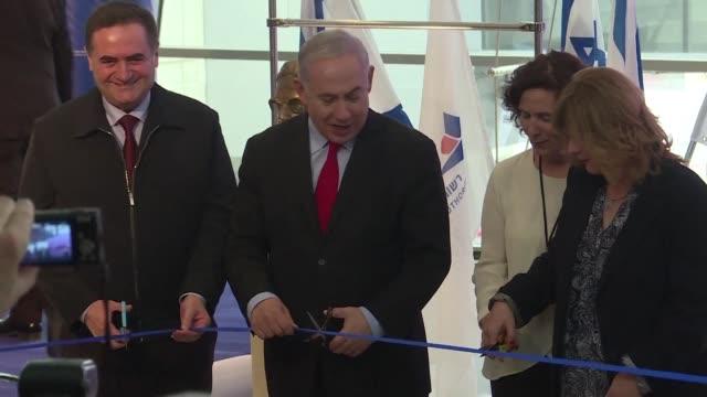 Israeli Prime Minister Benjamin Netanyahu took part in the inauguration Thursday of a new area of the Ben Gurion airport in Tel Aviv