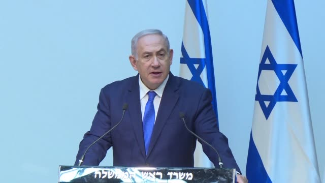 israeli prime minister benjamin netanyahu urges the united nations security council to condemn hezbollah for digging cross border attack tunnels and... - benjamin netanyahu stock videos & royalty-free footage