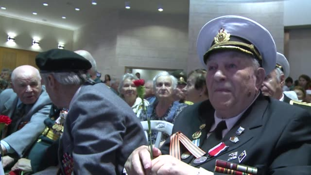 israeli russian world war ii veterans marked the 70th anniversary of the russian victory over nazi germany in 1945 with a parade on thursday at... - third reich stock videos and b-roll footage