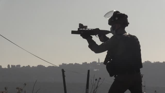 israeli soldiers on thursday, dec. 3, injured 32 palestinians, who gathered in protest against israeli settlements in the occupied west bank. some... - human settlement stock videos & royalty-free footage
