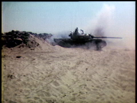 israeli soldiers set off on a tank patrol of the occupied sinai. - tank stock videos & royalty-free footage