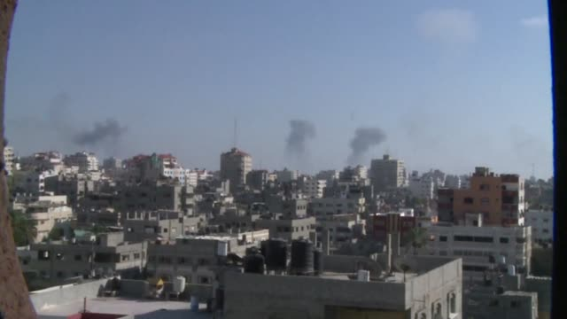 israeli strikes on gaza tuesday killed 15 people and wounded around 100 the emergency services said as the military began an aerial campaign against... - gaza strip stock videos & royalty-free footage