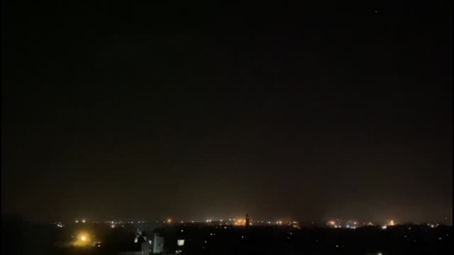 israeli warplanes carried out airstrikes targeting the positions of palestinian resistance group hamas in the gaza strip late thursday according to... - israel palestine conflict stock videos & royalty-free footage