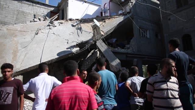 israeli warplanes killed 13 palestinians in gaza on tuesday - gaza strip stock videos & royalty-free footage