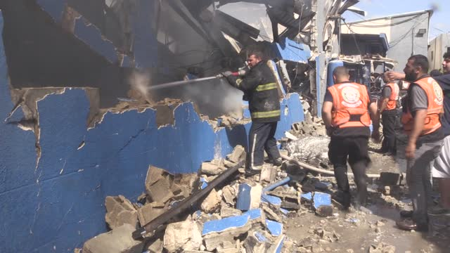 israeli warplanes on monday bombed a sponge factory in the north of the gaza strip. according to a statement made by the gaza's civil defense... - gaza strip stock videos & royalty-free footage