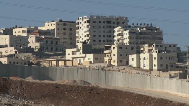 ws israeli west bank wall / jerusalem, israel - west bank stock videos & royalty-free footage