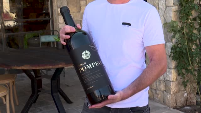 israeli winemaker yaakov berg captured attention by naming his red bled after us secretary mike pompeo, but he said the tag on the label's top right... - equipment stock videos & royalty-free footage