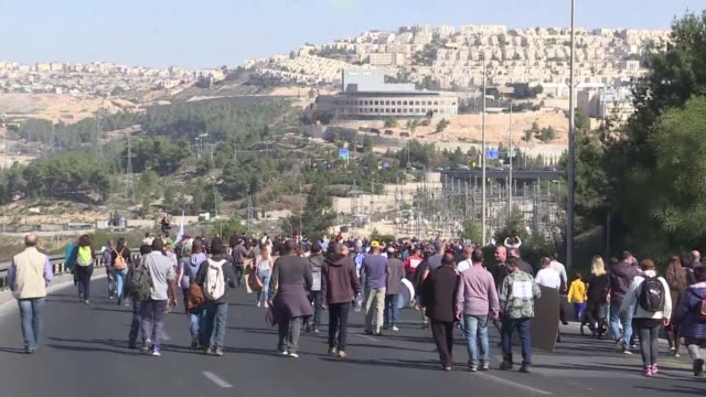 Israelis protested in Jerusalem on Sunday against plans by pharmaceutical giant Teva to make 1750 employees redundant in Israel as part of plans to...