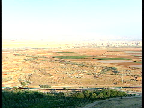 israel's fears yitzak rabin frmr defence min intvwd military truck along fence marking israelijordan border donnelly i/c zeev schiss military analyst... - yitzhak rabin stock videos & royalty-free footage