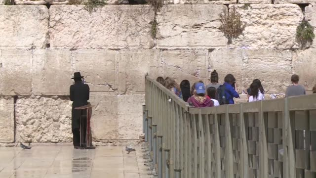israel's shelving of a deal to allow men and women to pray together at the western wall echoed far beyond religion monday with prime minister... - wailing wall stock videos & royalty-free footage