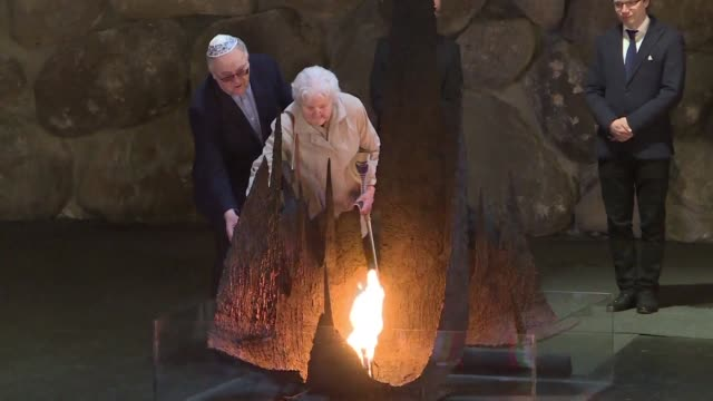 israel's yad vashem memorial on tuesday awarded a posthumous medal for heroism to three poles who risked their lives to protect jewish neighbours... - judaism video stock e b–roll