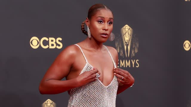 issa rae arrives to the 73rd annual primetime emmy awards at l.a. live on september 19, 2021 in los angeles, california. - emmy awards stock videos & royalty-free footage