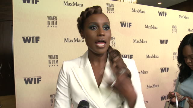 interview issa rae at 2019 women in film annual gala presented by max mara with additional support from partners delta air lines and lexus at the... - delta air lines stock-videos und b-roll-filmmaterial