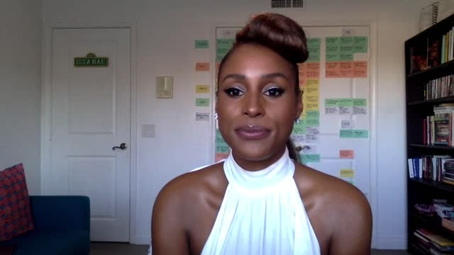 issa rae at the 52nd naacp image awards virtual winners press conference on march 27, 2021. - interview raw footage stock videos & royalty-free footage