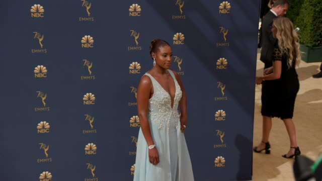 issa rae at the 70th emmy awards arrivals at microsoft theater on september 17 2018 in los angeles california - 70th annual primetime emmy awards stock videos and b-roll footage