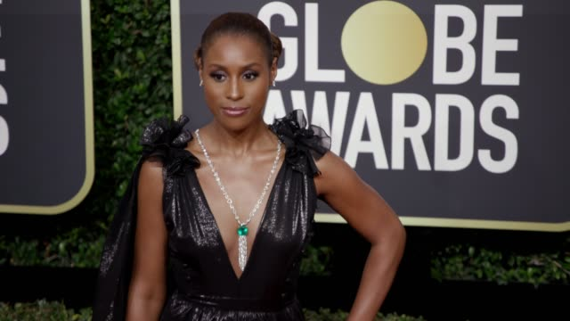 Issa Rae at the 75th Annual Golden Globe Awards at The Beverly Hilton Hotel on January 07 2018 in Beverly Hills California