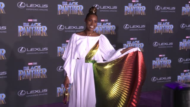 Issa Rae at the Marvel Studios' 'Black Panther' World Premiere at Dolby Theatre on January 29 2018 in Hollywood California