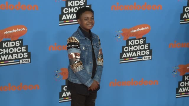 issac brown at the nickelodeon's 2018 kids' choice awards at the forum on march 24 2018 in inglewood california - 31st annual nickelodeon kids' choice awards stock videos and b-roll footage