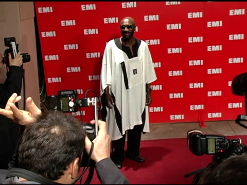 issac hayes at the emi post-grammy awards bash at the beverly hilton in beverly hills, california on february 13, 2005. - emi grammy party stock videos & royalty-free footage