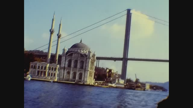 istambul view from the sea in 70's - istanbul stock videos & royalty-free footage