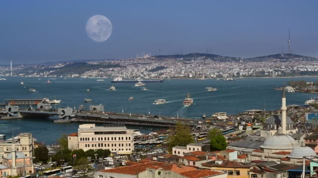 istanbul 4k time lapse - golden horn istanbul stock videos and b-roll footage