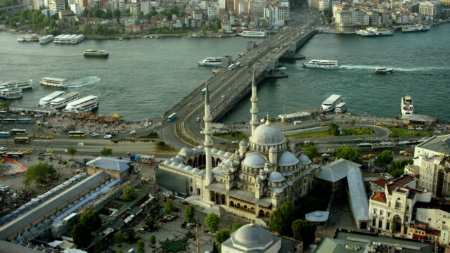Istanbul Aerial From New Mosque To Taksim Square