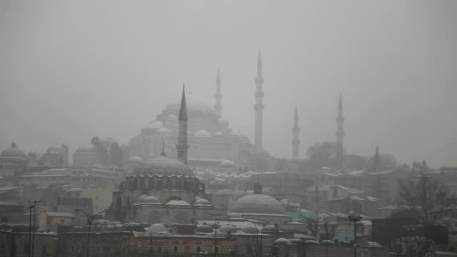 istanbul and suleymaniye - suleymaniye mosque stock videos and b-roll footage