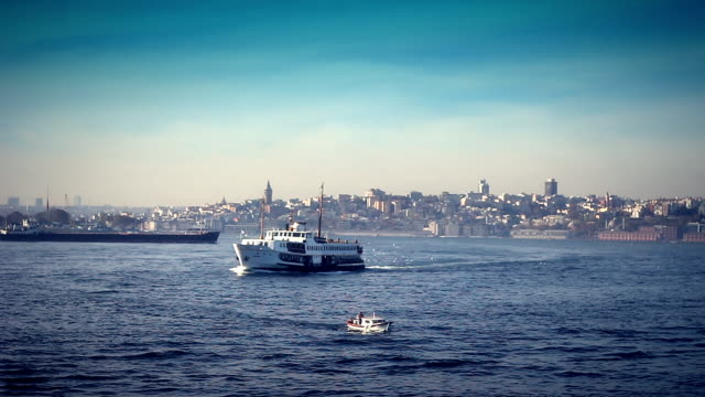 istanbul bosphorus and ferry - bosphorus stock videos & royalty-free footage