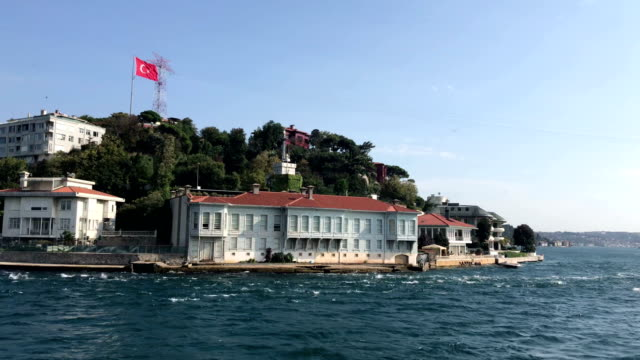 Istanbul bosphorus houses