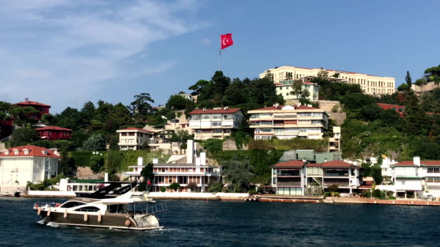 istanbul bosphorus houses - bosphorus stock videos & royalty-free footage