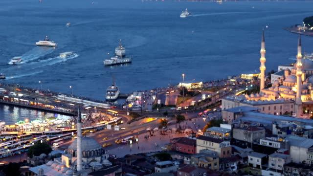 "vídeos de stock, filmes e b-roll de istanbul bosphorus "" - turquia"