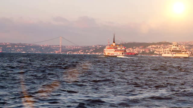 istanbul bosphorus, turkey - golden horn istanbul stock videos and b-roll footage
